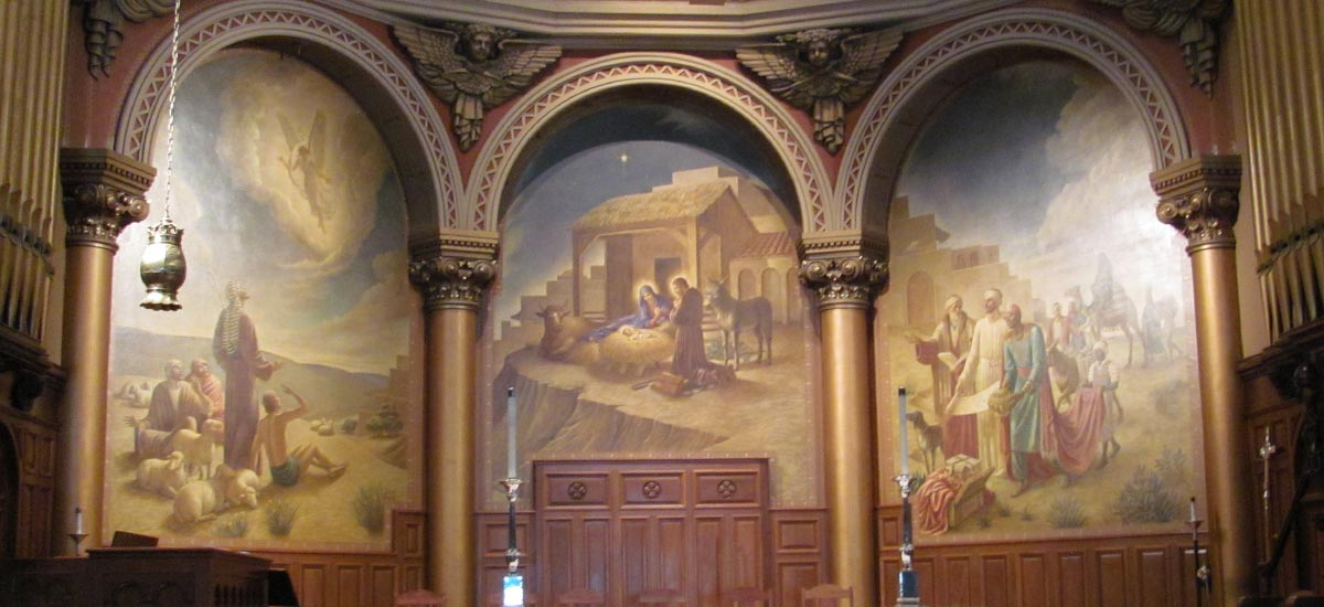 holy trinity church mural