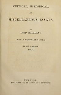 Macaulay's Essays