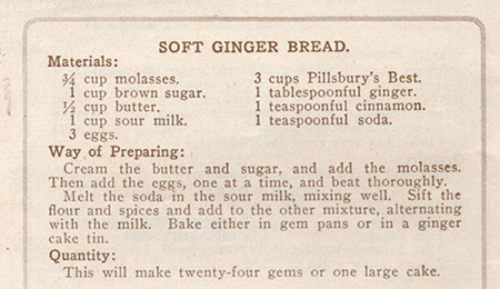 soft gingerbread