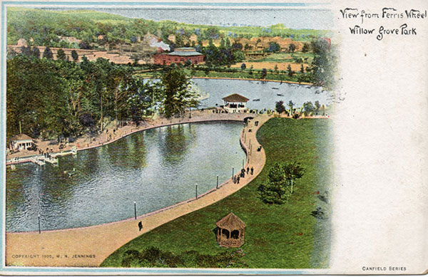 willow grove park postcard